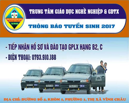 Thông báo tuyển sinh đào tạo lái xe ôtô hạng B2,C